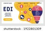 vector website design template .... | Shutterstock .eps vector #1922801309