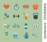 bundle of sixteen healthy... | Shutterstock .eps vector #1922836826