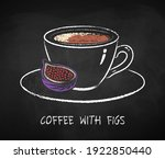 english coffee with figs cup... | Shutterstock .eps vector #1922850440