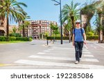 tourist with a backpack... | Shutterstock . vector #192285086