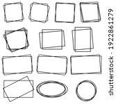 square frame vector icons set....   Shutterstock .eps vector #1922861279