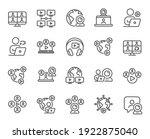 online meeting line icons.... | Shutterstock .eps vector #1922875040