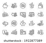 coins line icons. cash money ... | Shutterstock .eps vector #1922877389