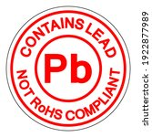 contains lead pb not rohs...   Shutterstock .eps vector #1922877989