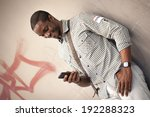 young black man checking...   Shutterstock . vector #192288323