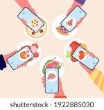 food photo. bloggers... | Shutterstock .eps vector #1922885030