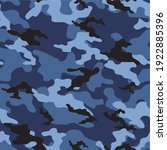 blue military camouflage vector ... | Shutterstock .eps vector #1922885396