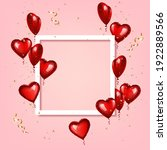 frame with heart shaped... | Shutterstock .eps vector #1922889566