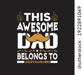 father day t shirts design... | Shutterstock .eps vector #1922891069