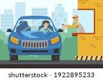 drive thru fast food restaurant.... | Shutterstock .eps vector #1922895233