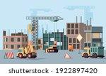 urban building construction....   Shutterstock .eps vector #1922897420