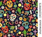 dia de los muertos seamless... | Shutterstock .eps vector #1922909873