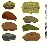 set of hand drawn men's tweed... | Shutterstock .eps vector #192291620