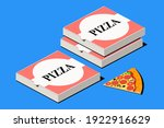 pizza. italian fast food.... | Shutterstock .eps vector #1922916629