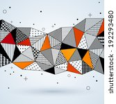 triangle pattern background.... | Shutterstock .eps vector #192293480