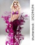 beautiful blonde fashion model... | Shutterstock . vector #192294194