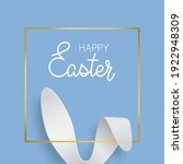 easter greeting card with bunny ... | Shutterstock .eps vector #1922948309