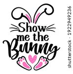 show me the bunny   cute easter ...   Shutterstock .eps vector #1922949236