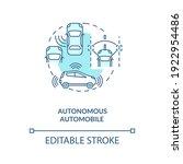 autonomous automobile concept... | Shutterstock .eps vector #1922954486