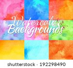 backgrounds watercolor design...