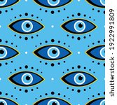 conceptual dotted blue evil... | Shutterstock .eps vector #1922991809