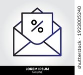 envelope icon in trendy style...