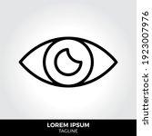 eye icon in trendy style...
