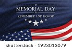 memorial day background with... | Shutterstock .eps vector #1923013079