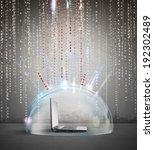 firewall and antivirus concept... | Shutterstock . vector #192302489