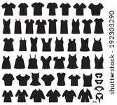 vector collection of clothing... | Shutterstock .eps vector #192303290