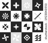 set geometric shapes. simple... | Shutterstock .eps vector #1923043553