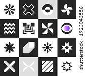 set geometric shapes. simple... | Shutterstock .eps vector #1923043556