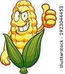 corn cartoon character with... | Shutterstock .eps vector #1923044453