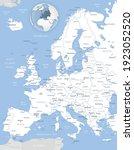 blue gray detailed map of... | Shutterstock .eps vector #1923052520