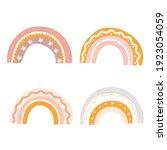 rainbow set on  the white... | Shutterstock .eps vector #1923054059