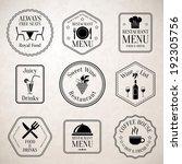 restaurant menu food and drinks ... | Shutterstock .eps vector #192305756