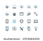 cloud computing sign black and... | Shutterstock .eps vector #1923064433