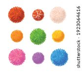 realistic detailed 3d colorful... | Shutterstock .eps vector #1923064616