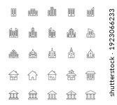 building line icon set.... | Shutterstock .eps vector #1923066233