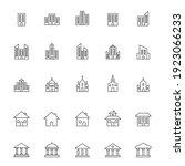 building line icon set....   Shutterstock .eps vector #1923066233