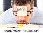 he needs help. frustrated young ... | Shutterstock . vector #192308534