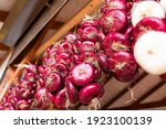A Bunch Of Fresh Red Onions...