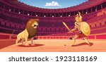 Gladiator And Lion Fight In ...