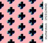 graphic crosses seamless... | Shutterstock .eps vector #1923124040
