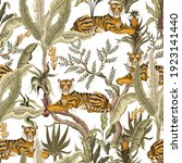 seamless pattern with jungles... | Shutterstock .eps vector #1923141440