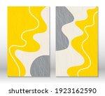 yellow  grey colors. modern... | Shutterstock .eps vector #1923162590