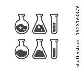 test tube black vector icon.... | Shutterstock .eps vector #1923163379