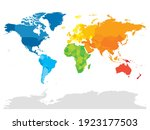 colorful political map of world.... | Shutterstock .eps vector #1923177503