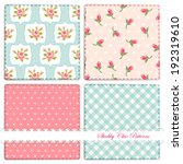 set of four cute retro patterns ... | Shutterstock . vector #192319610