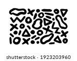 black dry brushstrokes hand... | Shutterstock .eps vector #1923203960